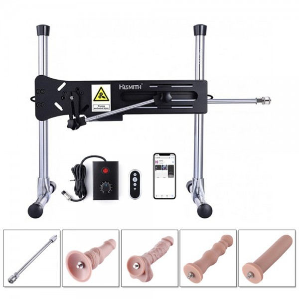 Gay's Automatic Thrusting Machine With Anal Sex Attachments