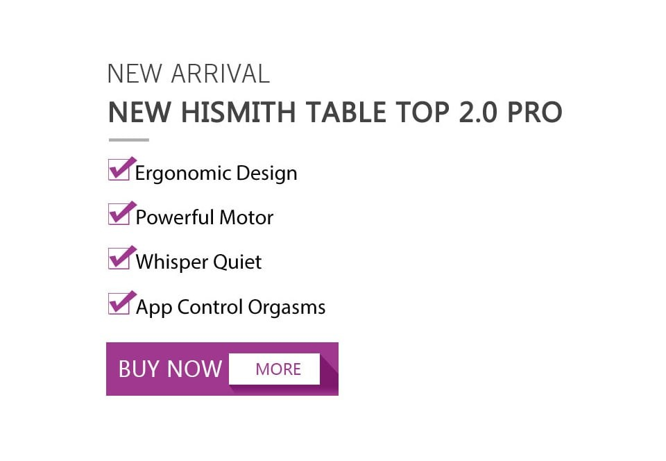 Hismith Table Top 2.0, Adjustable Programmable TThrusting Fucking Machine