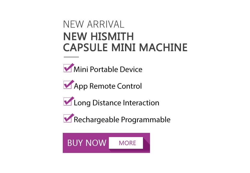 Hismith Capsule, Rechargeable APP Controlled Sex Machine